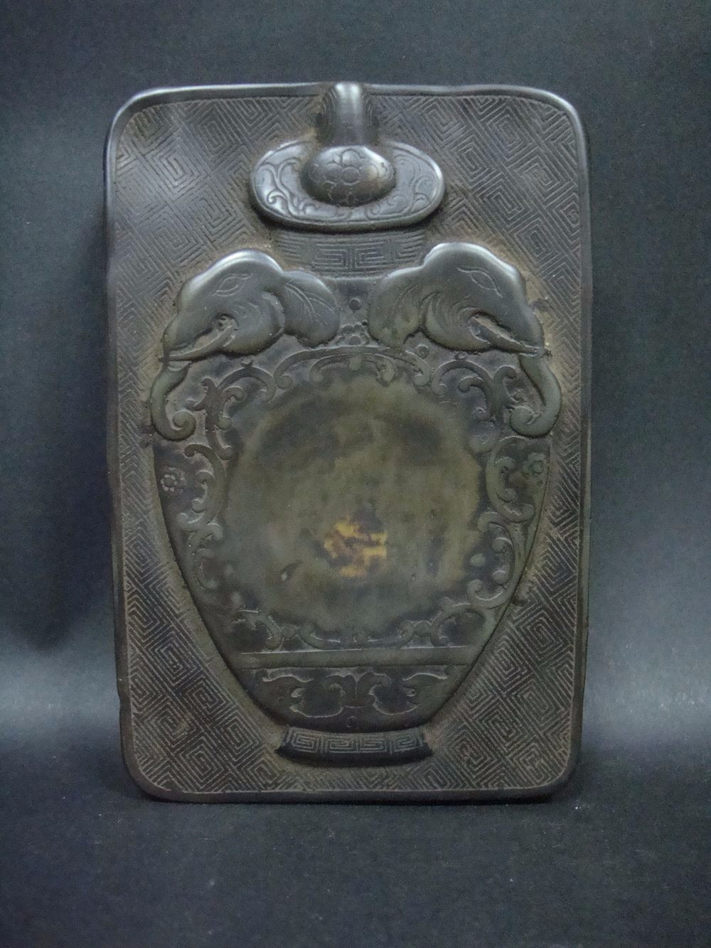 Fine Old Chinese Hand Carved Ink Stone Ink Slab