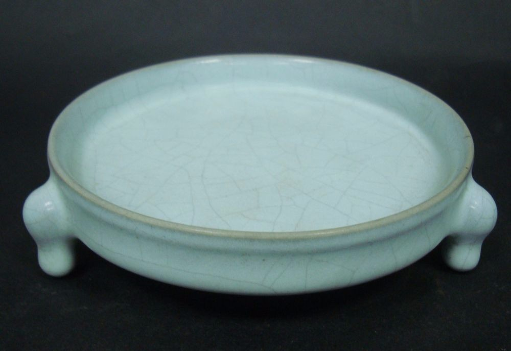 Fine Old Chinese Ru Kiln Celadon Porcelain Brush Washer Collection QA667