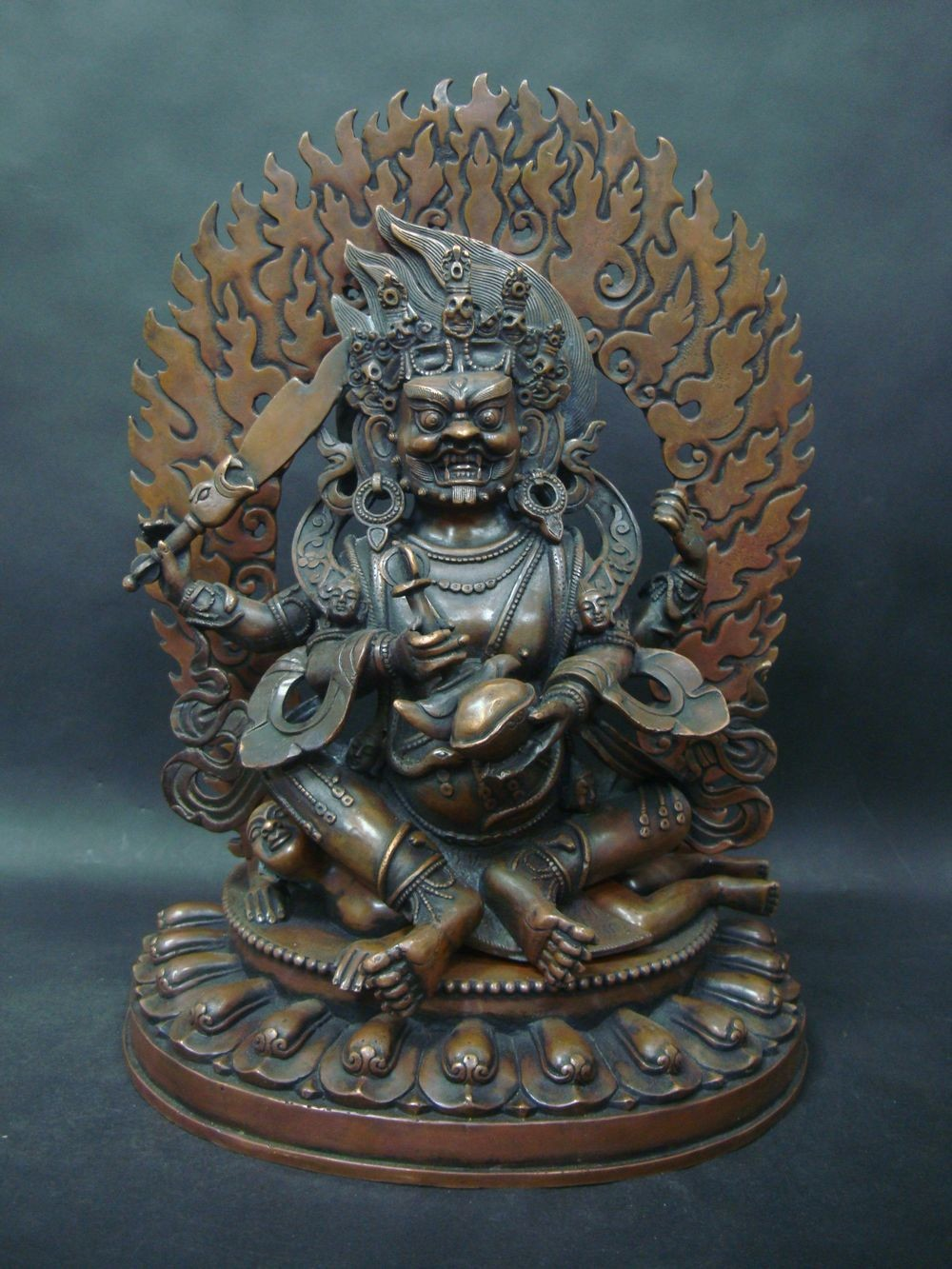 6.95kg Large Heavy Old Chinese Tibetan Buddha