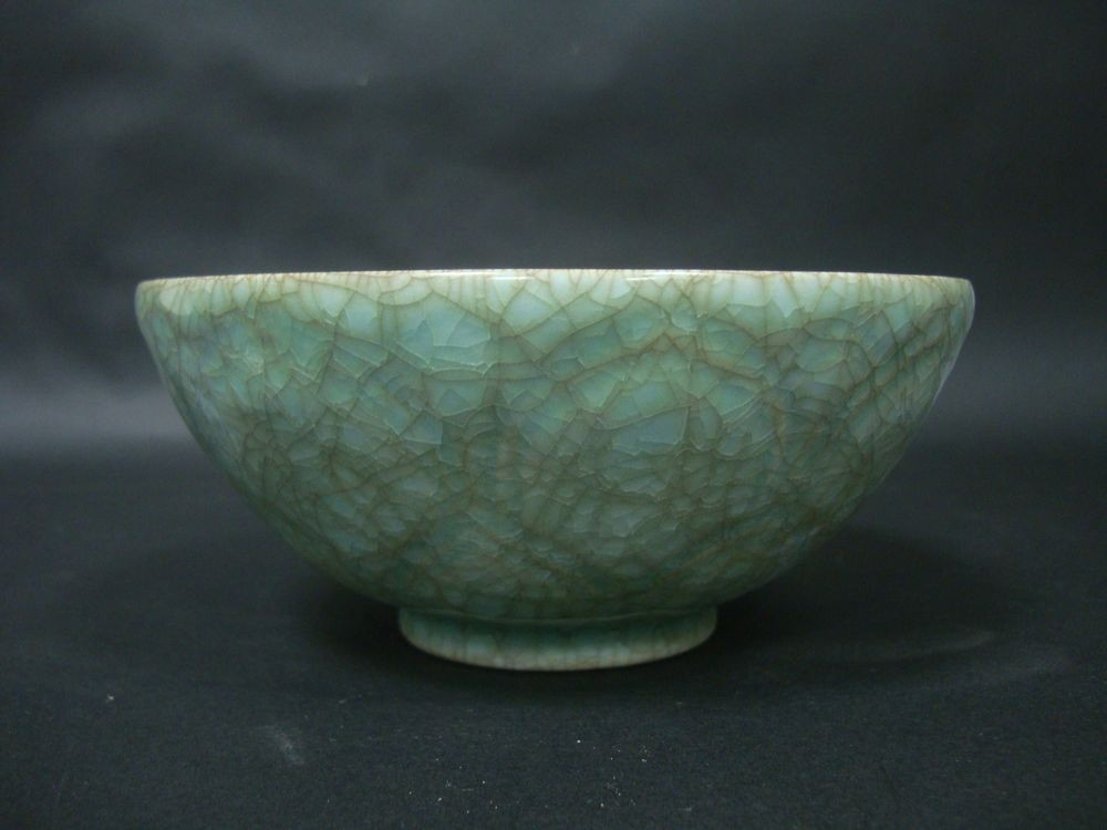 Elegant Very Rare Old Chinese Blue Glaze Porcelain Bowl QB749