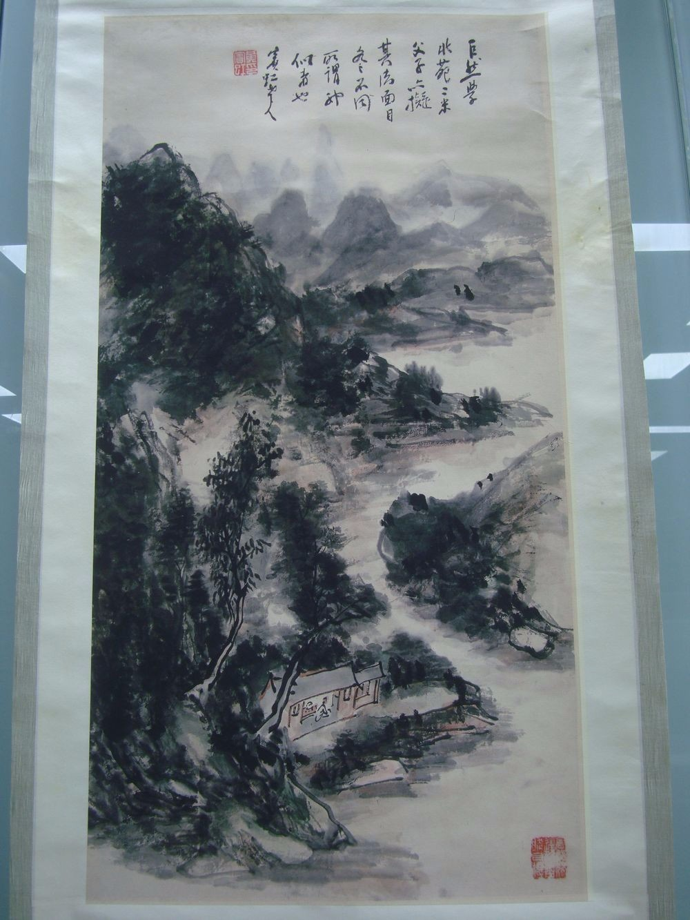 Very Large Chinese Scoll hand Painting Beautiful Landscape Mark QC136